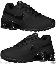 black leather nike shox