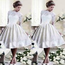 Elegant Wedding Prom Mini Dress Evening Party Formal Lace Dresses Princess White