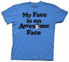 Adult Men's Workaholics Adam My Face is an Awesome Face Heather Blue T-Shirt Tee