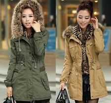 Lady Women's Warm Winter Long Jacket Long Sleeve Coat Parka Outwear Hooded
