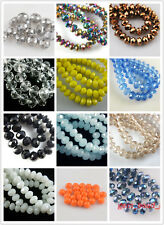 New 50Pcs 10x7mm Crystal Faceted Glass Beads Loose Spacer Rondelle Findings
