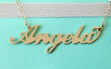 14K Yellow Gold Plated Any Personalized Name Necklace Gift