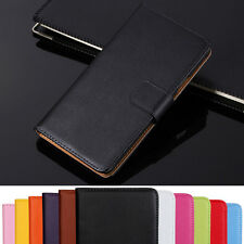 Genuine Leather Flip Wallet Case Cover For Sony Xperia Series Models