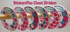 Closet Clothes Size Dividers Organizer Baby Girl Toddler Pink Purple Aqua Dots