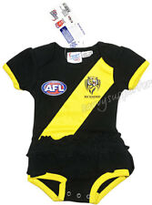 Richmond Tigers AFL Girls Baby Footysuit 'Select Size' 000-1 BNWT