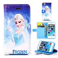 New Frozen Magnatic Stand Wallet Book Case Cover For Apple iPhone Mobile Phones