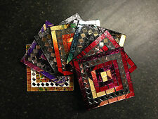 Mosaic Coaster Set Glass Tile Rest Cup Holder Placemat Hot Drink Stand Brightx4