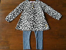 NWT Juicycouture  2 pc outfit set tunic leopard shirt leggings girls 18 24m