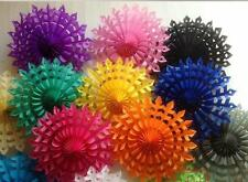 10pcs Tissue Paper Flowers Snowflake Fan Wedding Party Home Outdoor Decorations