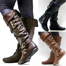 New Women FTK Brown Black Riding Knee High Boots sz 6 to 10