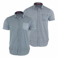 New Mens Check Shirt Brave Soul 'Tully' Short Sleeved Casual Shirt S M L XL