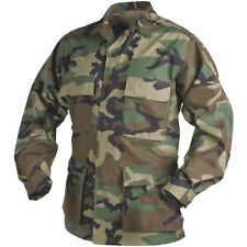 Helikon Genuine Bdu Army Combat Shirt Mens Uniform Jacket Airsoft Woodland Camo