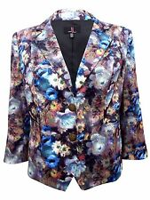 SIMON JEFFREY PURPLE SMUDGE FLORAL SINGLE BREASTED JACKET