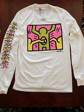 KEITH HARING Long Sleeve Holes White T-Shirts By Junk Food NEW Sizes S, M, L, XL