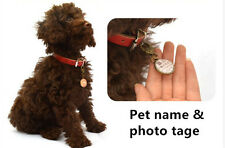PET PHOTO TAGS CUSTOM   DOUBLE SIDED PERSONALIZED ID DOG CAT CHARM TAG