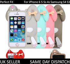 3D Lovely Buck Teeth Rabbit Silicone Back Case For iPhone 6 5 5S 4 Samsung S4 S3