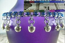 Barrel BDSM Gorean Slave Dancing Bell Anklet Silver Toned Asst. Accents