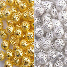 Wholesale Gold & Silver Plated Metal Filigree Spacer Beads 4MM 6MM 8MM 10MM 12MM