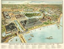 Panoramic Print - Worlds Columbian Exposition Chicago Illinois 1893 - 23 x 30.29