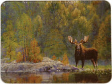 Tempered Glass Kitchen Cutting Board 12x16 LONE MOOSE Great Hunter's Decor