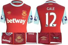 *15 / 16 - UMBRO ; WEST HAM UTD HOME SHIRT SS + PATCHES / GALE 12 = SIZE*