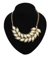 Vintage Retro leaves Pendant Charm Necklace Choker Chunky Women Fashion Jewelry