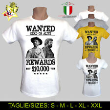 T-SHIRT UOMO/DONNA WANTED BUD SPENCER TERENCE HILL WESTERN CULT FILM - MEN/WOMAN