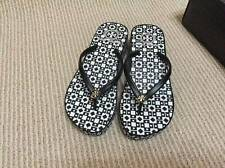NEW AUTH Tory Burch THANDIE WEDGE FLIP-FLOP SANDAL black white check
