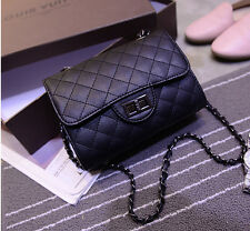 New Designer Womens Leather Shoulder Bag Quilted Chain Crossbody Handbag Purse