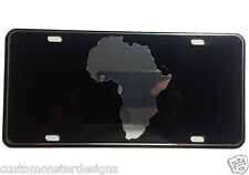 Africa Map African Map License Plate Chrome and Regular Vinyl Choices