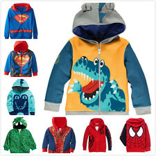 Kids Boys Clothes Zipped Jackets Hoodies Cosplay Coats Sweater Tops 1-6 Years