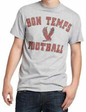Adult Men's True Blood TV Show Bon Temps Football Heather Gray T-shirt Tee