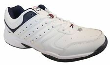 Mens Ascot Umpire Leather Lace up White lightweight trainers UK 7-12