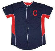 NWT Majestic Cleveland Indians MLB Youth 8-20 Team Leader Jersey - Navy