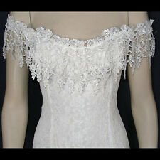 Ivory Lace Peasant Casual, Western, Beach Wedding Dress