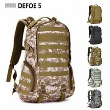 Desert Molle Backpack Military School Trekking Ripstop Woodland Tactical Gear