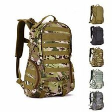 CP camo Molle Backpack Military School Trekking Ripstop Woodland Tactical Gear