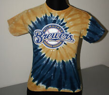 MILWAUKEE BREWERS BLUE & GOLD TIE DYE YOUTH TEE  SHIRT - NWT - LICENSED