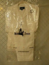 Blue Jazz Men's 2 Piece Linen Walking Suit RMS01 -White-Solid Color- SIZES M-3XL