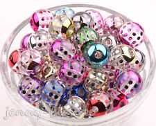 10/50pcs Mixed Acrylic Carved Dot Loose Spacer Bead Charm Jewelry Finding 12mm