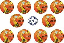 10 x MITRE IMPEL TRAINING FOOTBALLS - ORANGE - SIZES 3,4 & 5