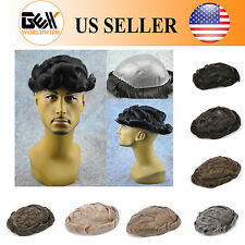 BHD Medium Density Skin Mens HairPiece Toupee Wig Poly Base Replacement Systems