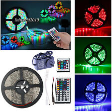 5M 10M 15M Waterproof 3528 RGB Warm Day White LED Strip Fairy Light+ IR Remote