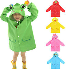 Cute Children Raincoat Outerwear Baby Cartoon Hooded Rain Coat Kids Rainwear