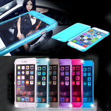FLIP SOFT Crystal Silicone CASE COVER FOR iPHONE 5 5s 5c 4s 6 +SCREEN PROTECTOR