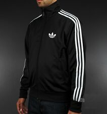 NEW MEN'S FIREBIRD %ADIDAS ORIGINALS BLACK WHITE TRACK TOP JACKET Size M L XL