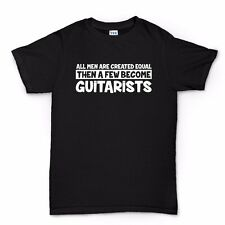 Men Created Equal Guitarist T shirt - Les Paul American Standard Strat Tele