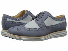 Cole Haan Mens Lunargrand Long Wing Tip Lace Up Perforated Casual Business Shoes