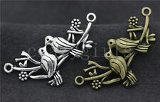 5/20/100pcs Tibetan Silver Lovely double Birds Jewelry Charms Connectors 45x21mm