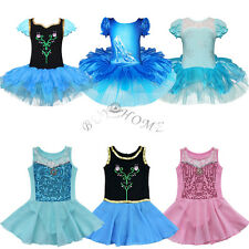 Blue Girl Leotard Crystal Shoes Ballet Tutu Dance Party Dress 3-10 Skirt Costume